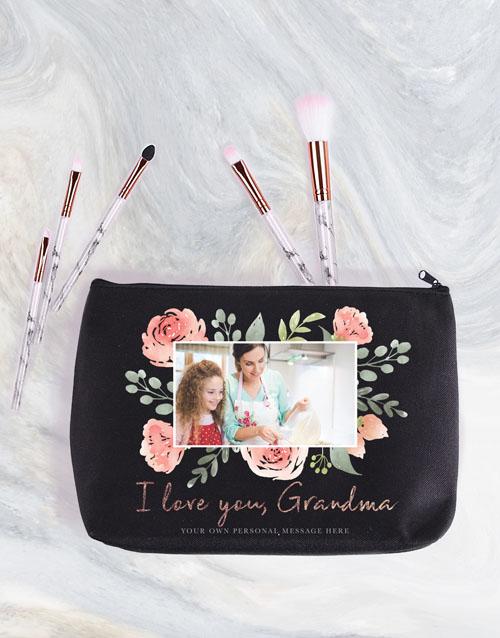 christmas: Personalised Grandma Photo Cosmetic Bag!