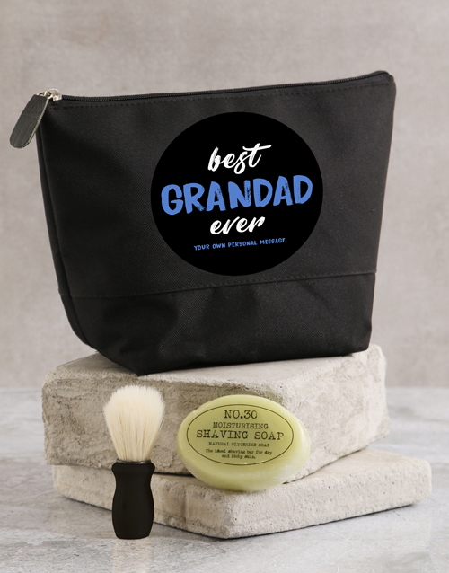 fathers-day: Personalised Best Grandad Ever Wash Bag!