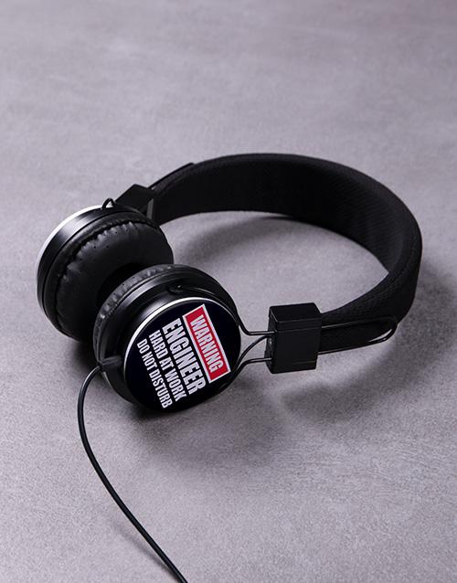 birthday: Personalised Warning Headphones!