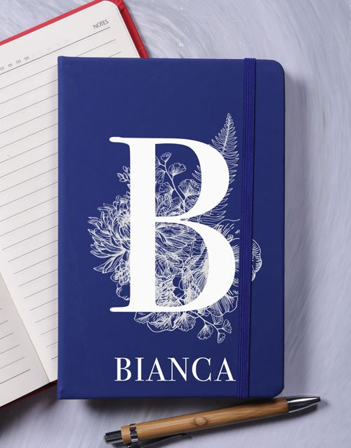 bosses-day: Personalised Botanic Initial A5 Notebook!
