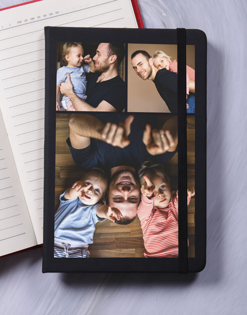 fathers-day: Personalised Triple Photo A5 Notebook!
