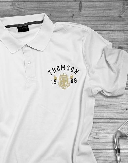 personalised: Personalised Year Badge Golf Shirt!