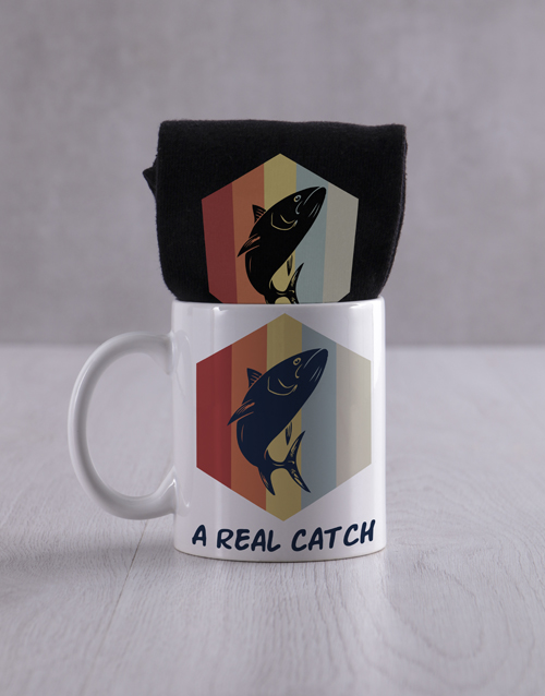 bosses-day: Personalised Real Catch Socks And Mug!