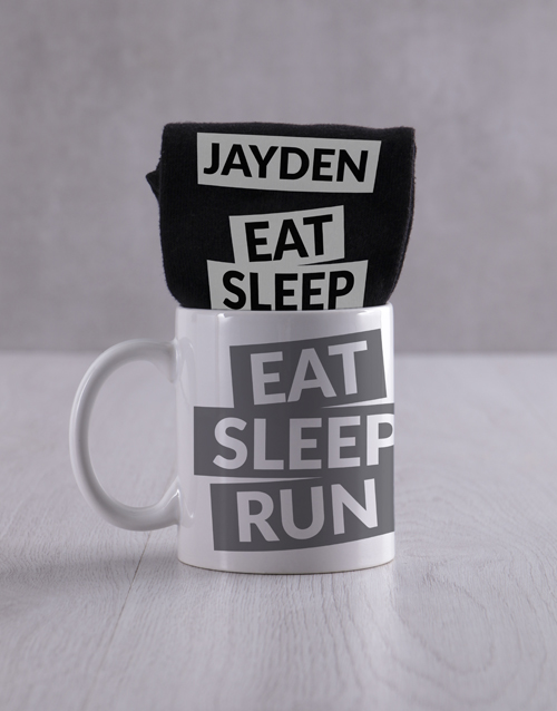 apparel: Personalised Running Socks And Mug !