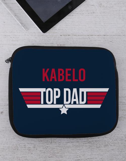 christmas: Personalised Top Dad Tablet or Laptop Sleeve!
