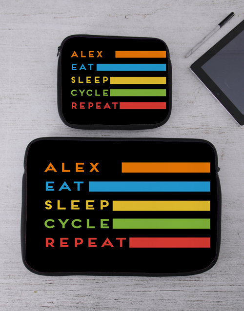 bosses-day: Personalised Cycle Tablet or Laptop Sleeve!