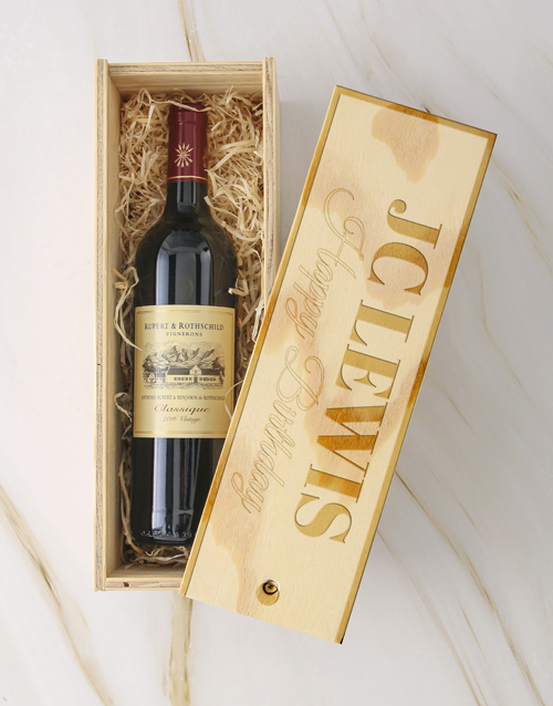 personalised: Personalised Rothschild Crate!