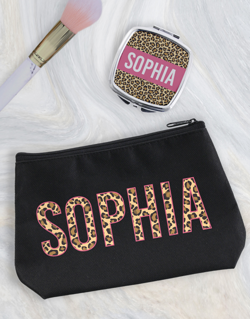 christmas: Personalised Animal Print Cosmetic Bag!
