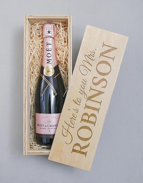 personalised: Personalised Moet Rose Crate!