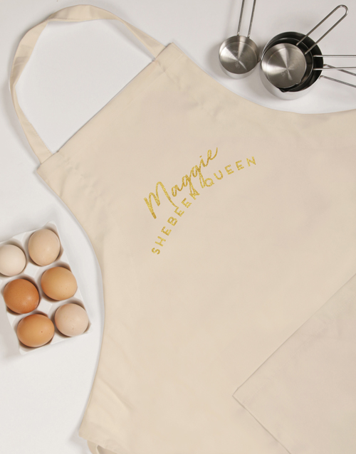 fathers-day: Personalised Shebeen King Apron!