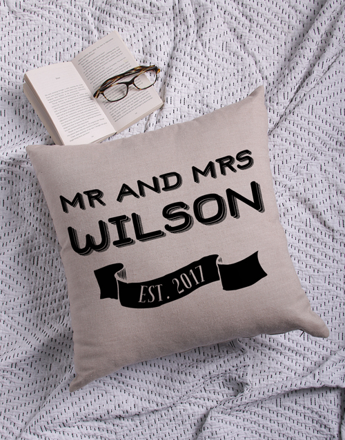christmas: Personalised Mr and Mr Scatter Cushion!