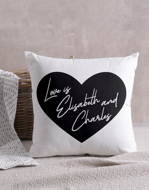 christmas: Personalised Heart Message Scatter Cushion!