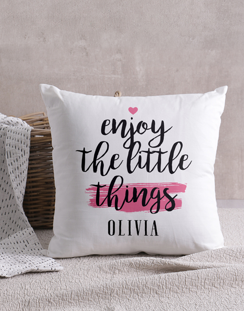 christmas: Personalised Little Things Scatter Cushion!