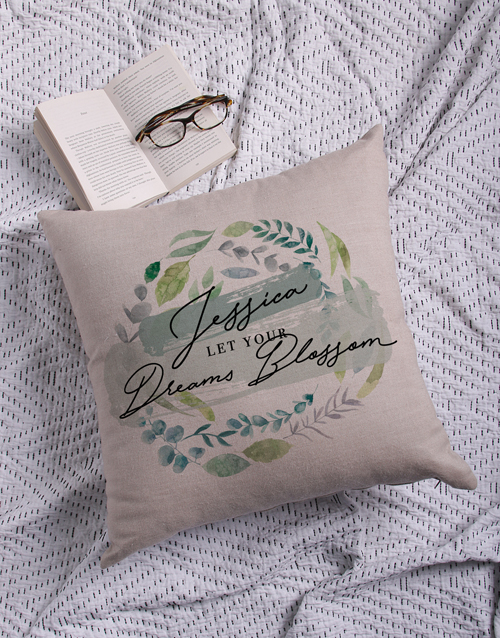 christmas: Personalised Dreams Blossom Scatter Cushion!
