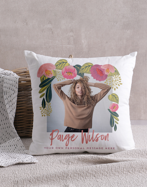 personalised: Personalised Floral Photo Scatter Cushion!