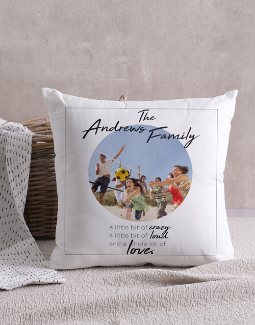 christmas: Personalised Crazy Family Photo Scatter Cushion!