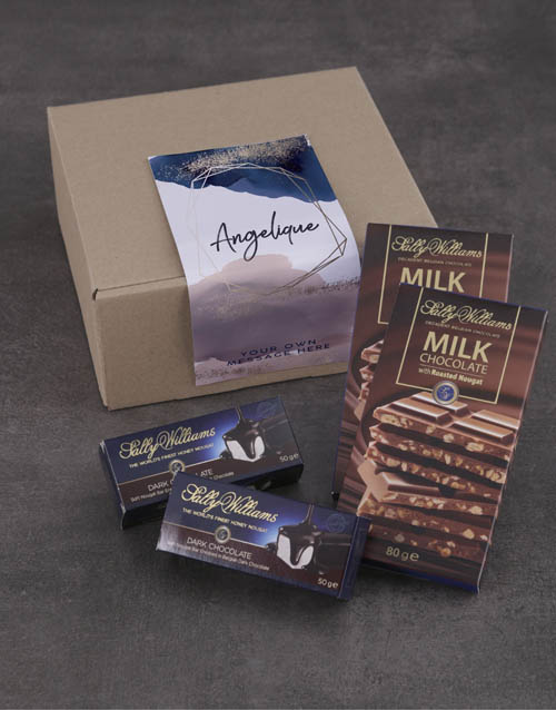 mothers-day: Personalised Shimmer Sally Williams Nougat Box!