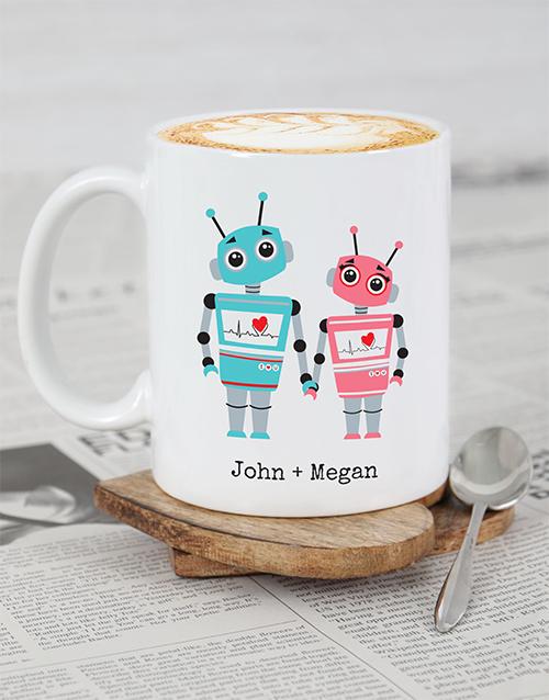 valentines-day: Personalised Robot Love Mug!