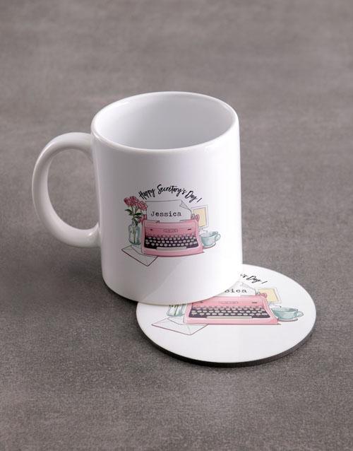 personalised: Personalised Secretaries Day Mug And Coaster Set!