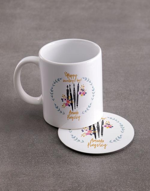 personalised: Personalised Secretaries Mug And Coaster Set!