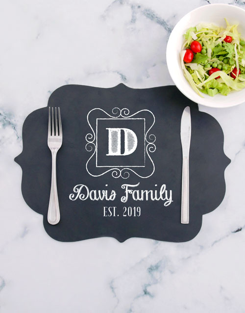 homeware: Personalised Family Chalk Board Placemat!