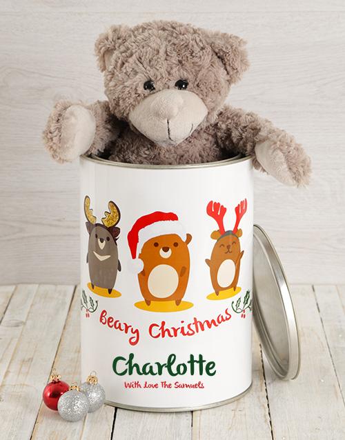 christmas: Personalised Christmas Characters Teddy Tin!