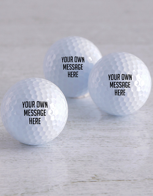 grandparents-day: Personalised Message Golf Balls!