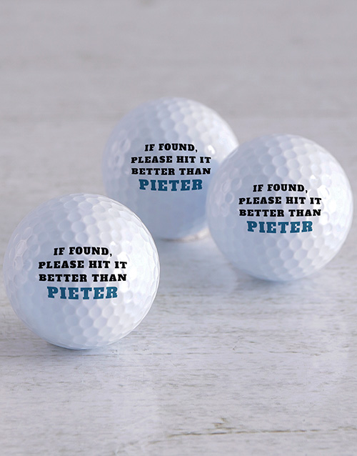 grandparents-day: Personalised Better Golfer Golf Balls!