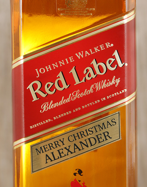 fine-alcohol: Personalised Johnnie Walker Red!