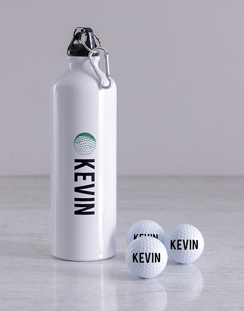 grandparents-day: Personalised Name Golf Balls and Waterbottle!