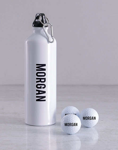 grandparents-day: Personalised Golf Balls and Waterbottle!