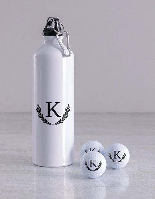 grandparents-day: Personalised Wreath Golf Balls and Waterbottle!