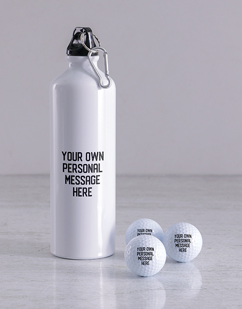 grandparents-day: Personalised Message Golf Balls and Waterbottle!