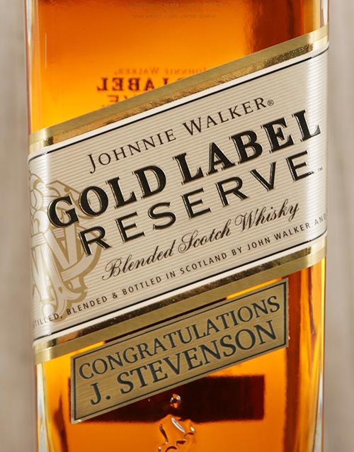 personalised: Personalised Johnnie Walker Gold Reserve!