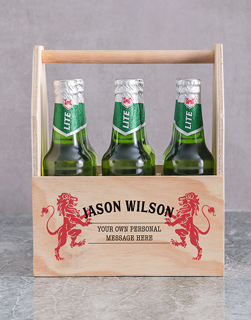 valentines-day: Personalised Lionheart Man Crate!