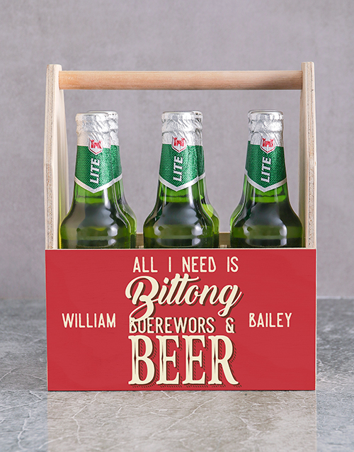 fathers-day: Personalised All I Need Man Crate!