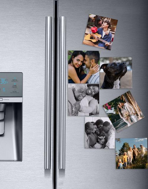 anniversary: Personalised Photo Magnets Set Of Nine!