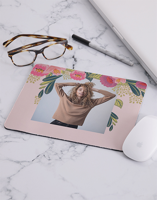 personalised: Personalised Photo Blossoms Mousepad!