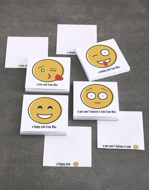 gifts: Personalised Emoji Messages Note Gift Set!