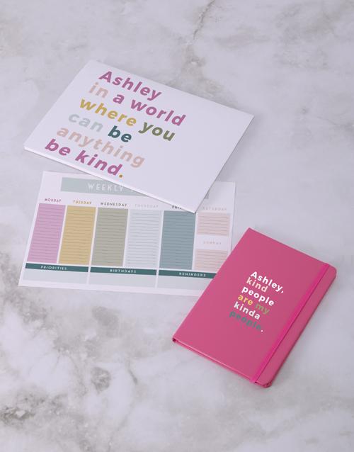 secretarys-day: Personalised Kind People Desk Stationery Set!