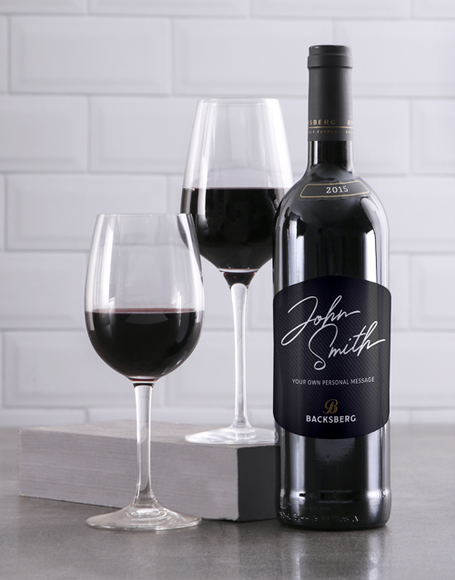valentines-day: Personalised Signature Backsberg Wine!