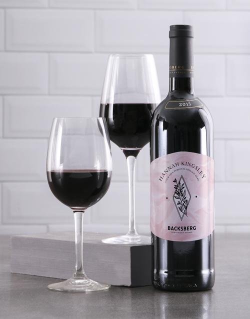 valentines-day: Personalised Graceful Backsberg Wine!