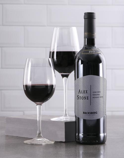 valentines-day: Personalised Modernist Backsberg Wine!