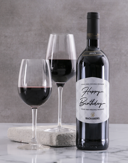 valentines-day: Personalised Contemporary Backsberg Wine!