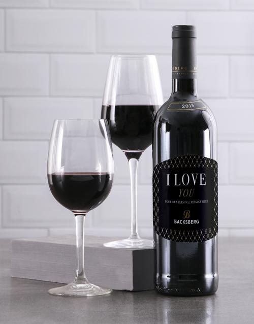 valentines-day: Personalised Gentleman Backsberg Wine!