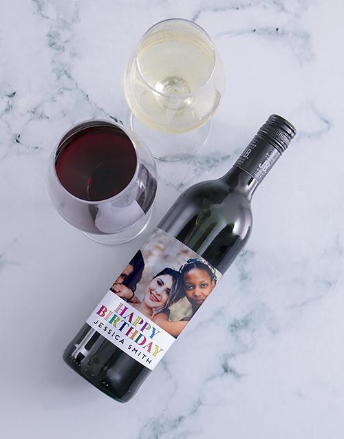 birthday: Personalised Birthday Photo Wine!