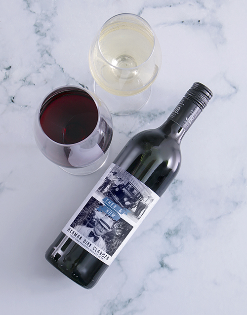birthday: Personalised Then And Now Photo Wine!