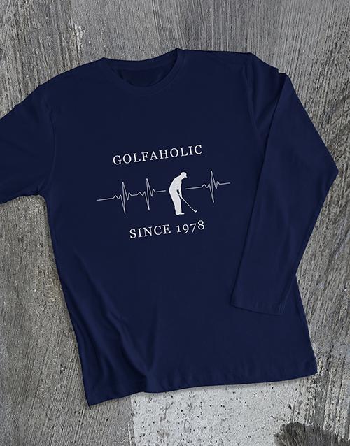 clothing: Personalised Golfaholic Long Sleeve T Shirt!
