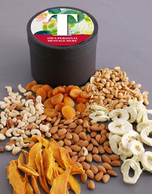 spring-day: Personalised Botanical Fruit and Nut Hat Box!