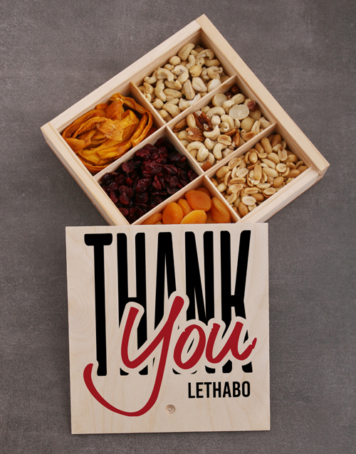 year-end: Personalised Thank You Snack Crate!